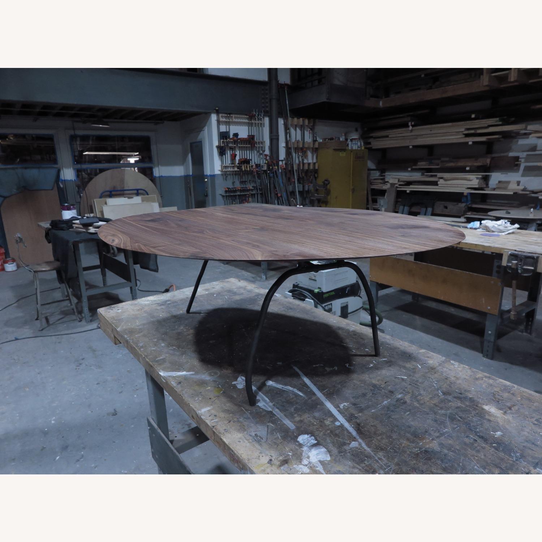 custom walnut coffee table steel legs - image-2