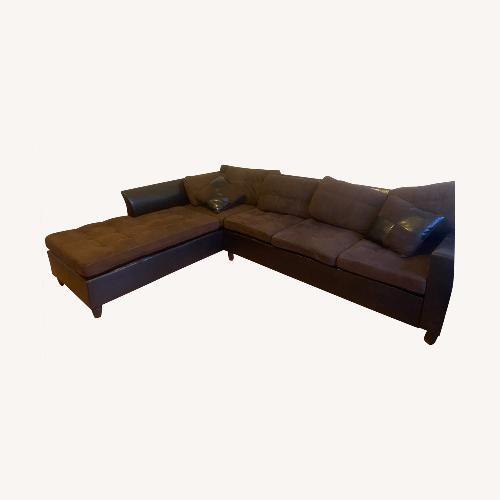 Used Microfiber Chocolate Large Comfortable Sectional for sale on AptDeco