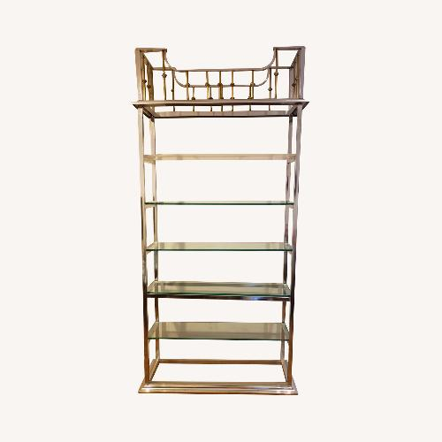 Used Chrome and Brass Etagere for sale on AptDeco