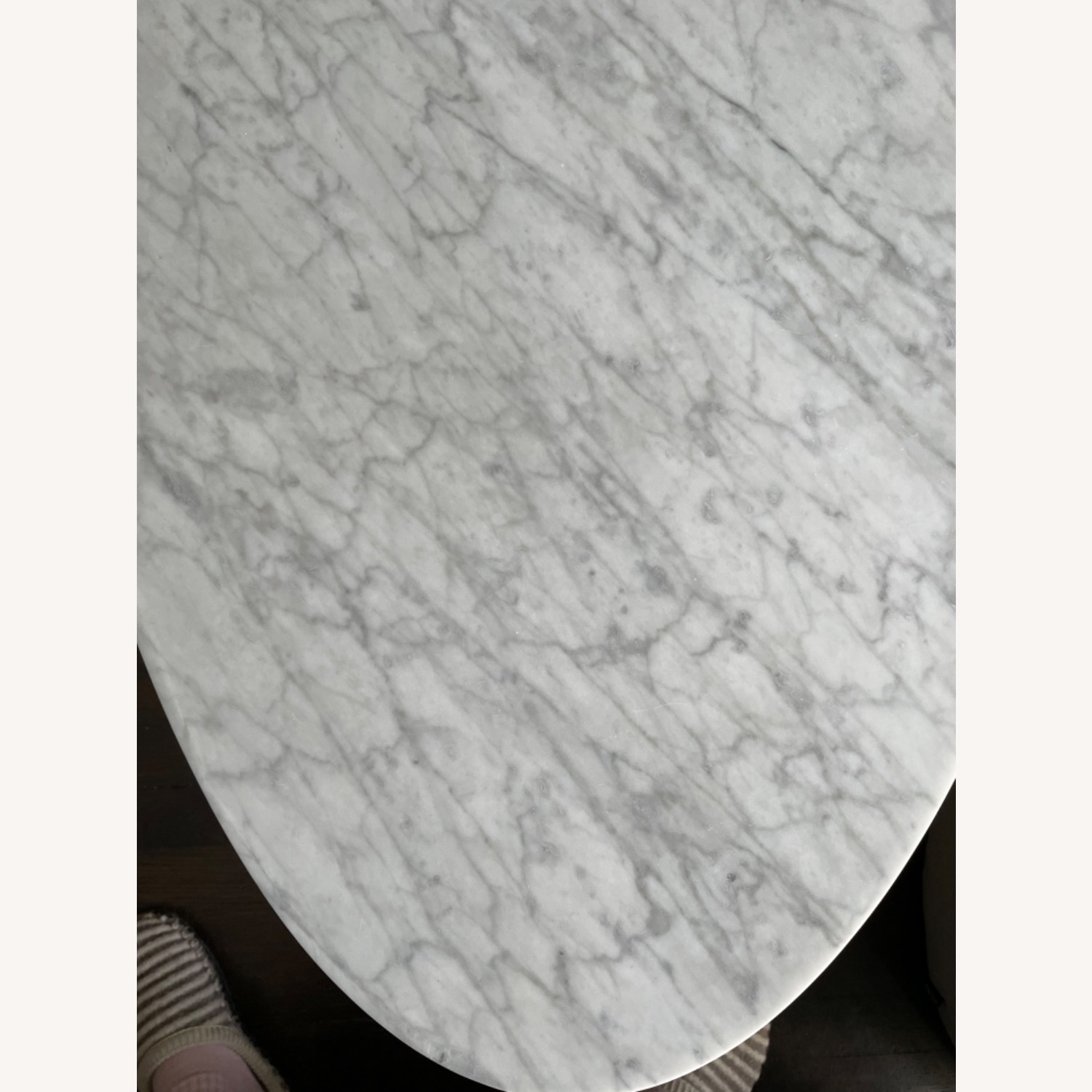 West Elm Reeve Mid-Century Oval Coffee Table - Marble Top - image-9
