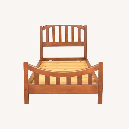 Used Ethan Allen Solid Maple Twin Bed Frame for sale on AptDeco