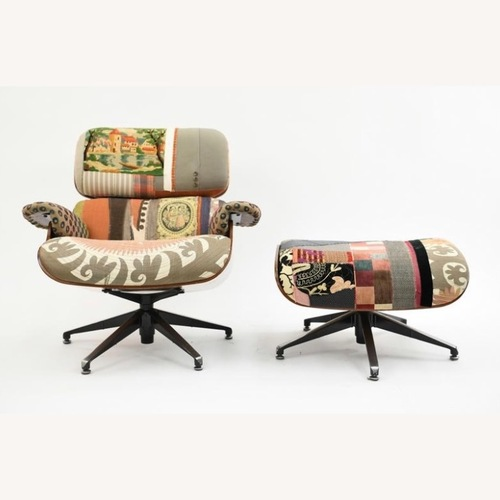 Used Saarinen & Eames Bokja Couture Eames Style Lounge for sale on AptDeco