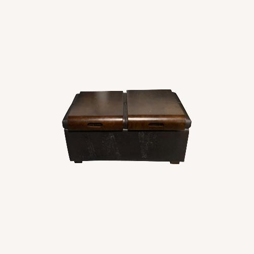 Used Storage Ottoman with Trays for sale on AptDeco