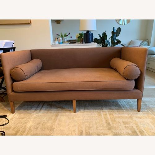 Used Anthropologie Linen Settee Harper for sale on AptDeco