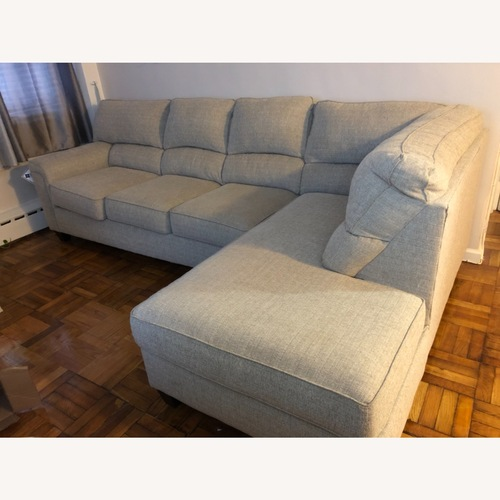 Used Bob's Discount Furniture Calvin 1 Sectional with Chaise for sale on AptDeco
