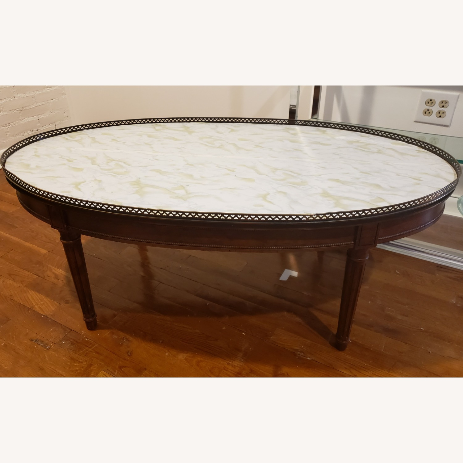 Baker Oval Wood Coffee Table - image-1
