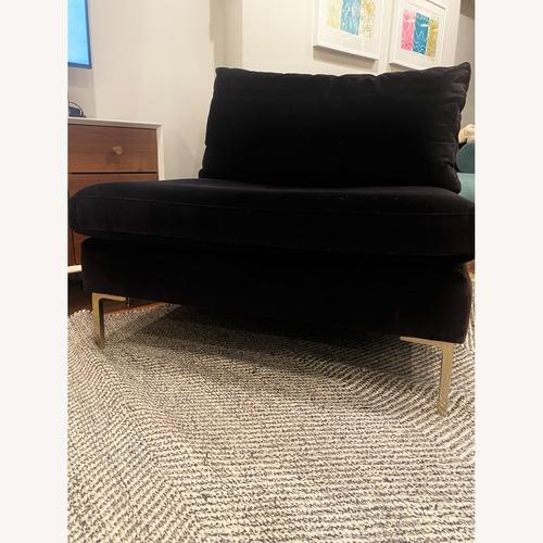 Used Anthropologie Black Velvet Chair for sale on AptDeco