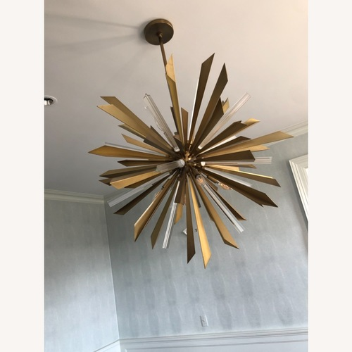 Used Arteriors Home Large Waldorf Chandelier Brass for sale on AptDeco