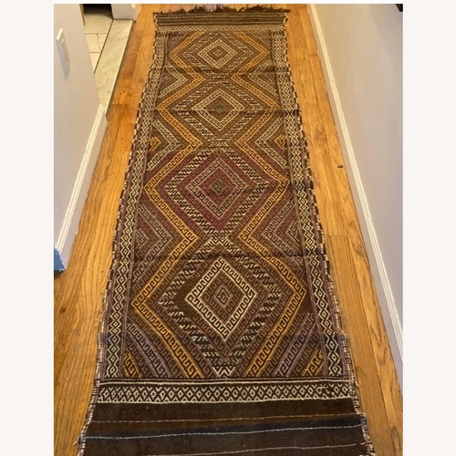 Used Vintage Afghan Tribal Suzani Kilim Rug Runner for sale on AptDeco