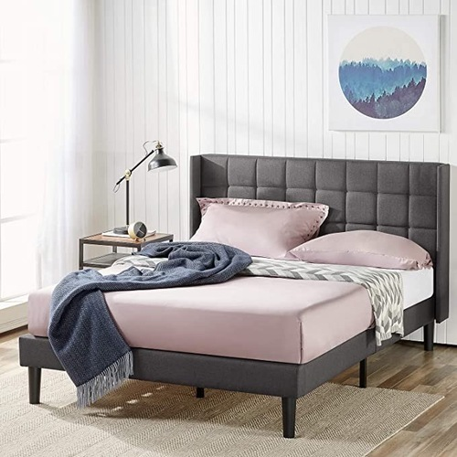 Used Full Size Platform Bed Frame with Headboard for sale on AptDeco
