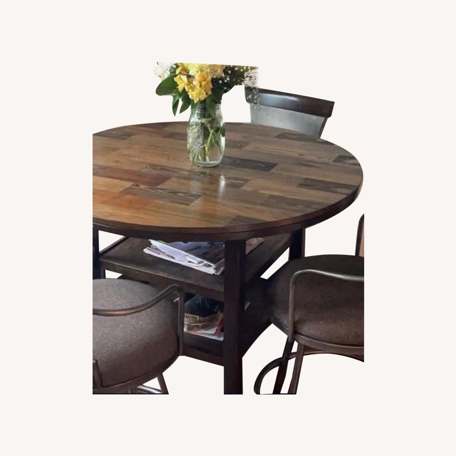 High Top Bistro Table with 4 Chairs - image-0