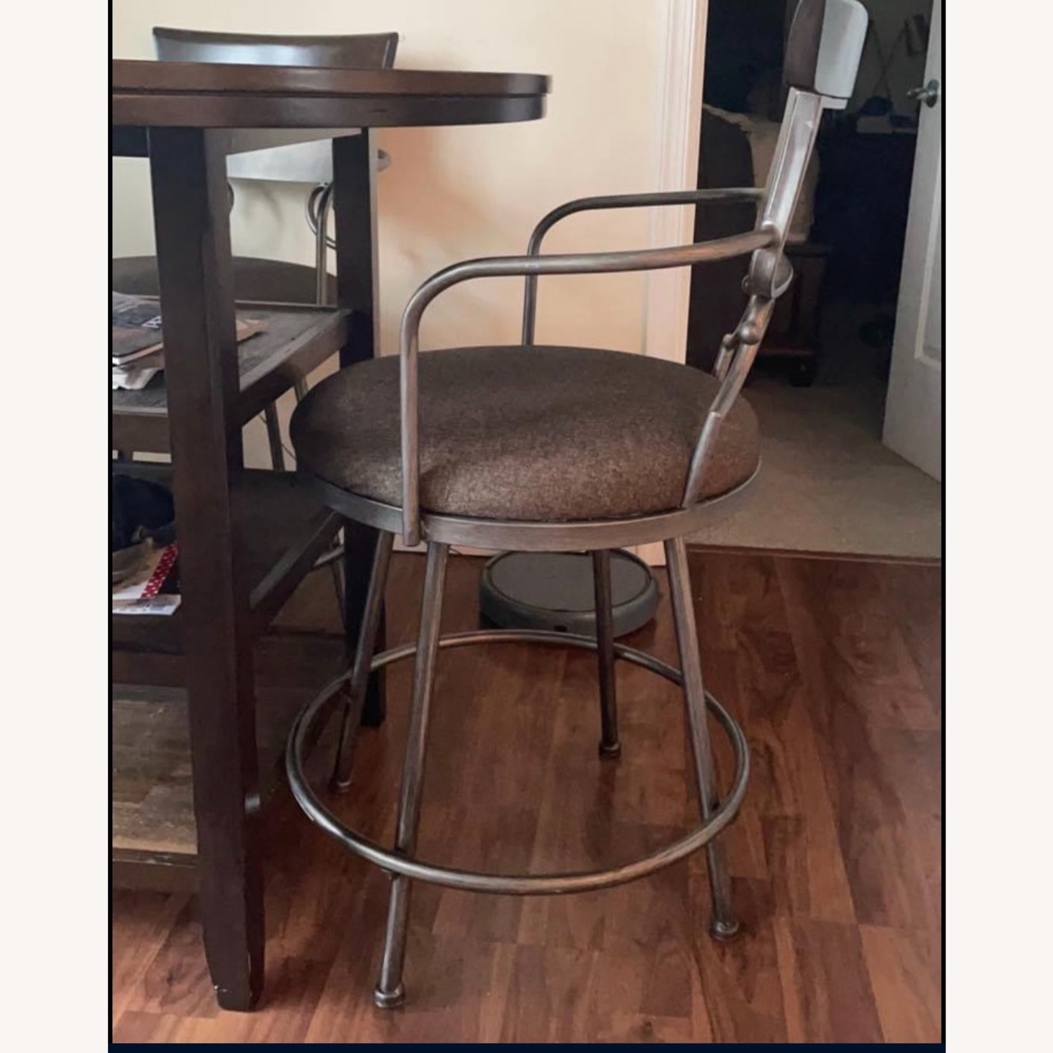 High Top Bistro Table with 4 Chairs - image-2