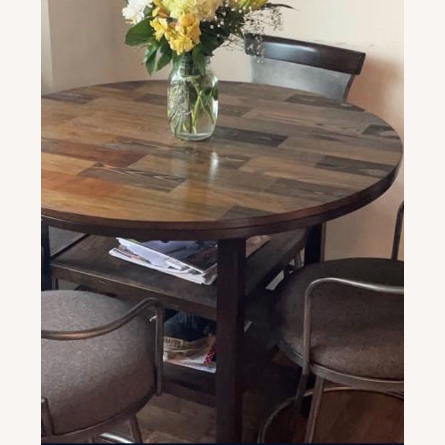 High Top Bistro Table with 4 Chairs - image-1