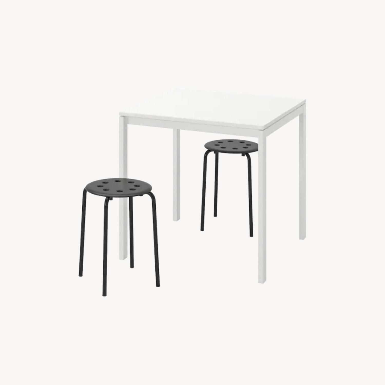 IKEA Dining Table and 2 Stools - image-0