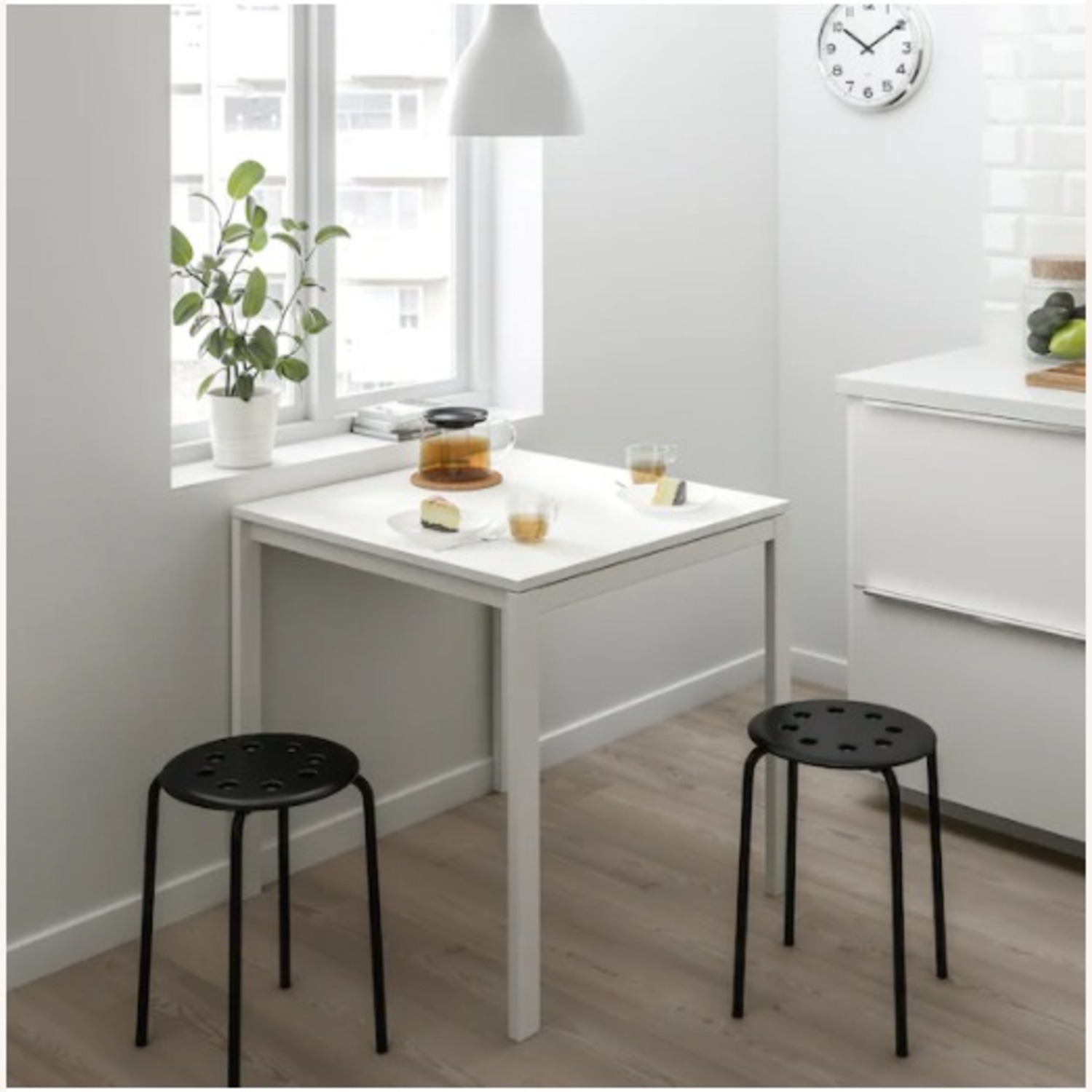 IKEA Dining Table and 2 Stools - image-3
