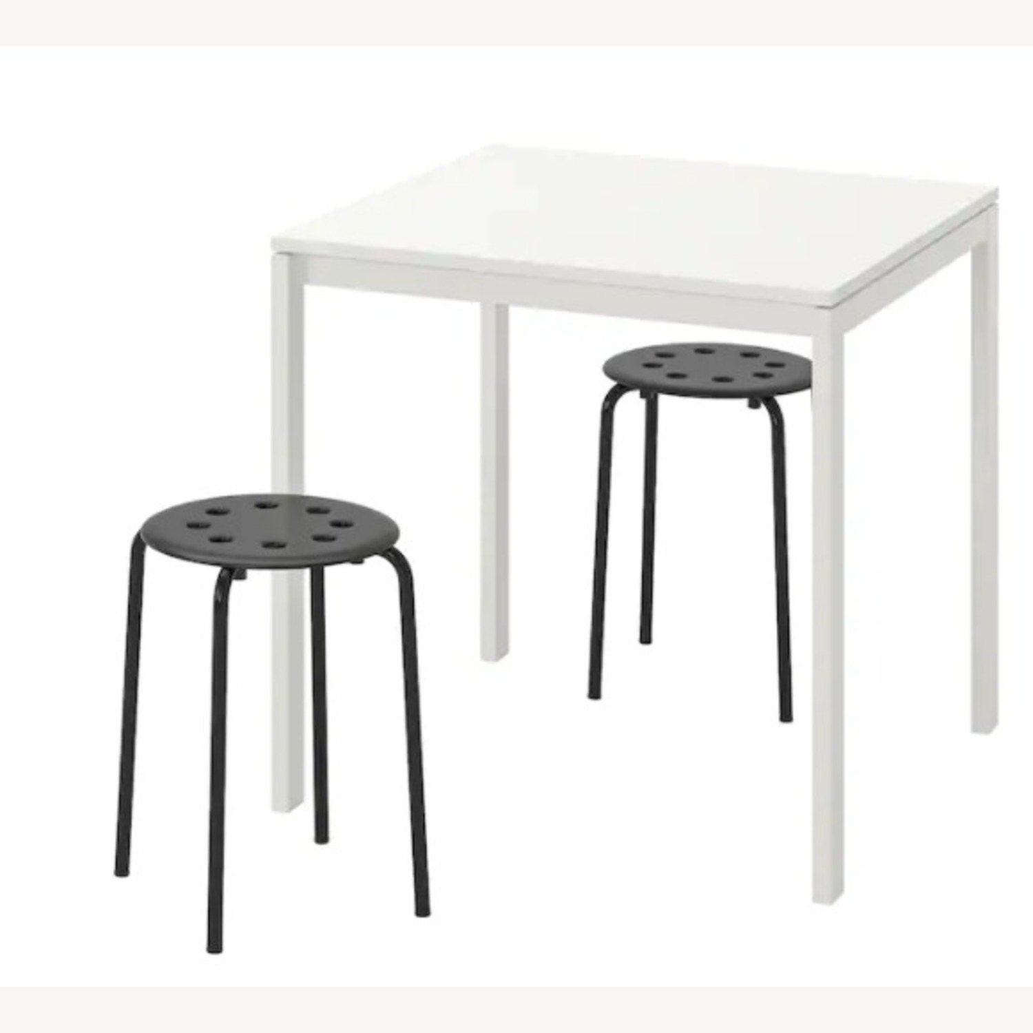 IKEA Dining Table and 2 Stools - image-1