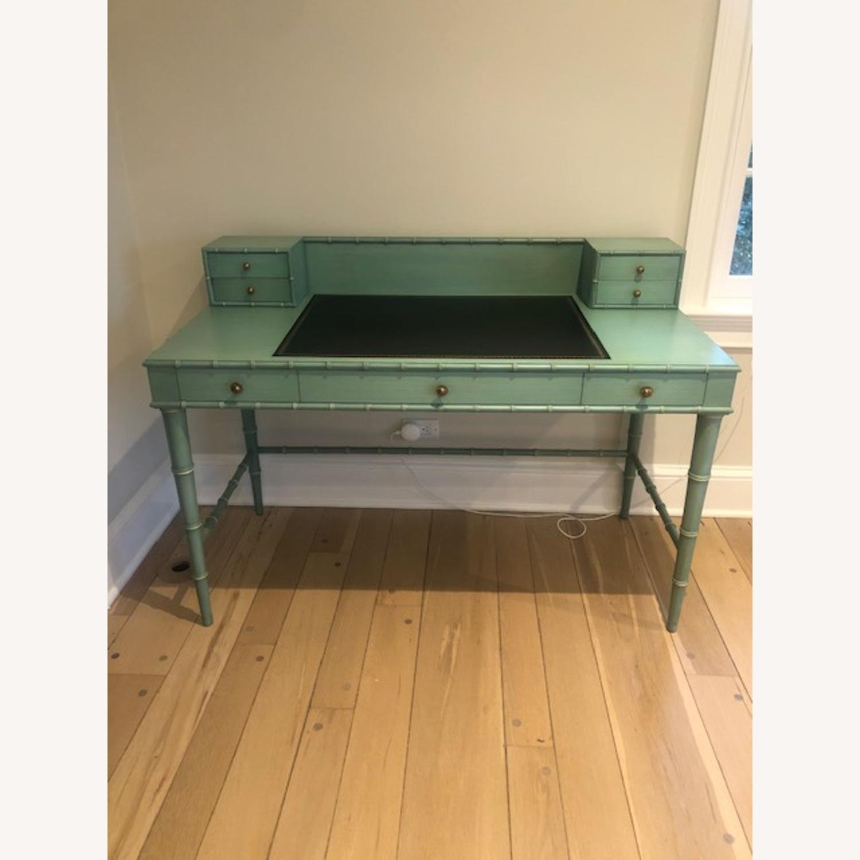 Vintage Faux Bamboo Writing Desk - image-1
