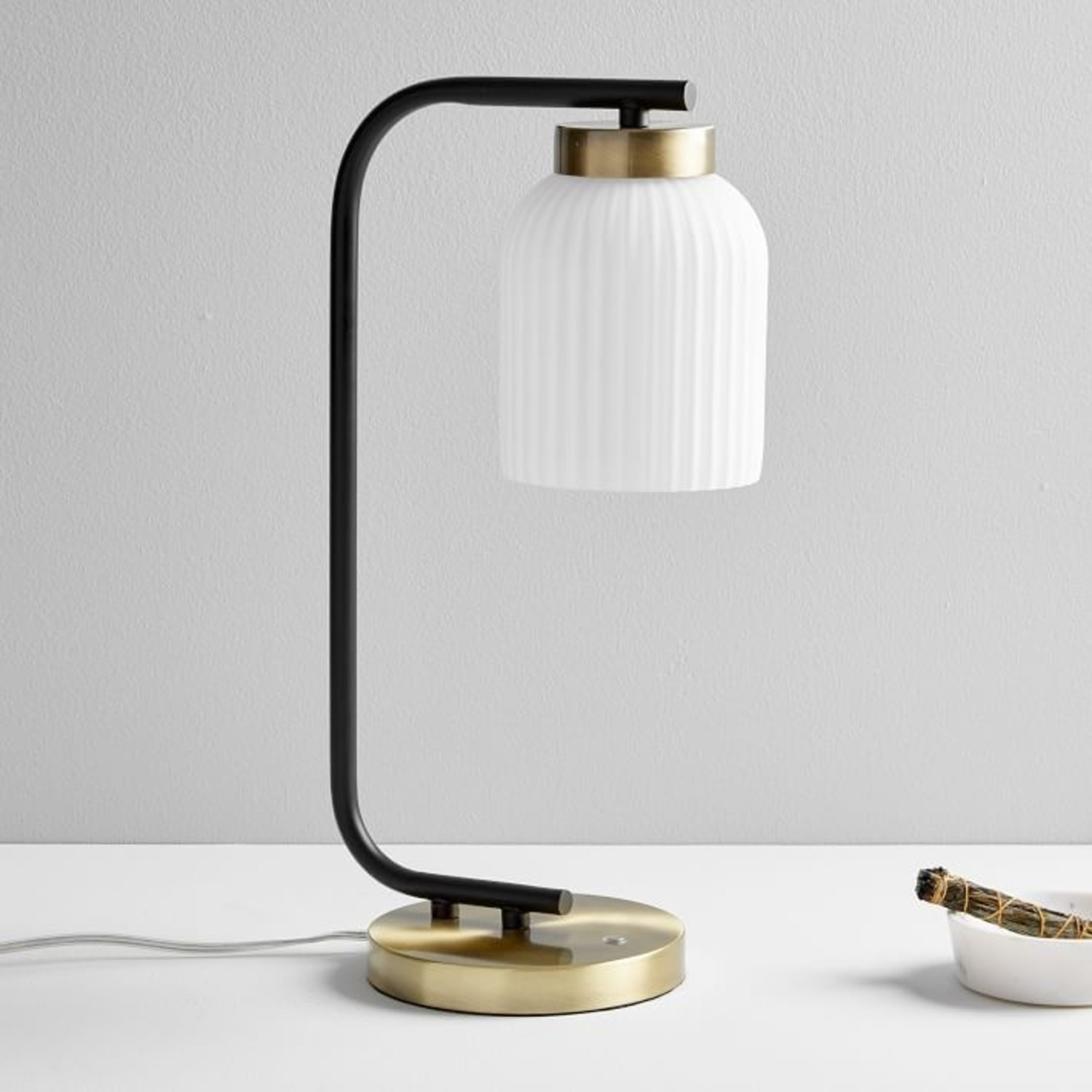 West Elm Suspended Glass Table Lamp - image-1