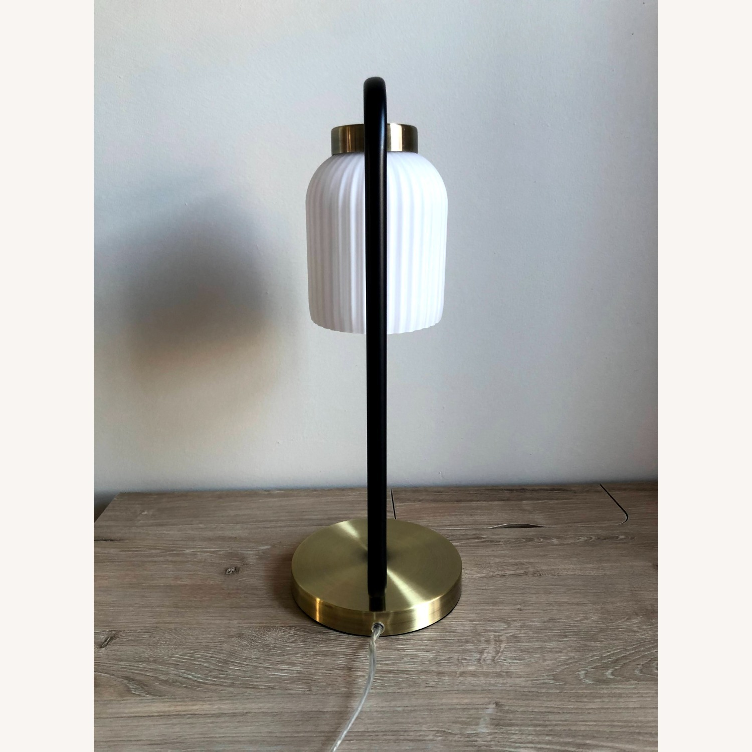 West Elm Suspended Glass Table Lamp - image-5