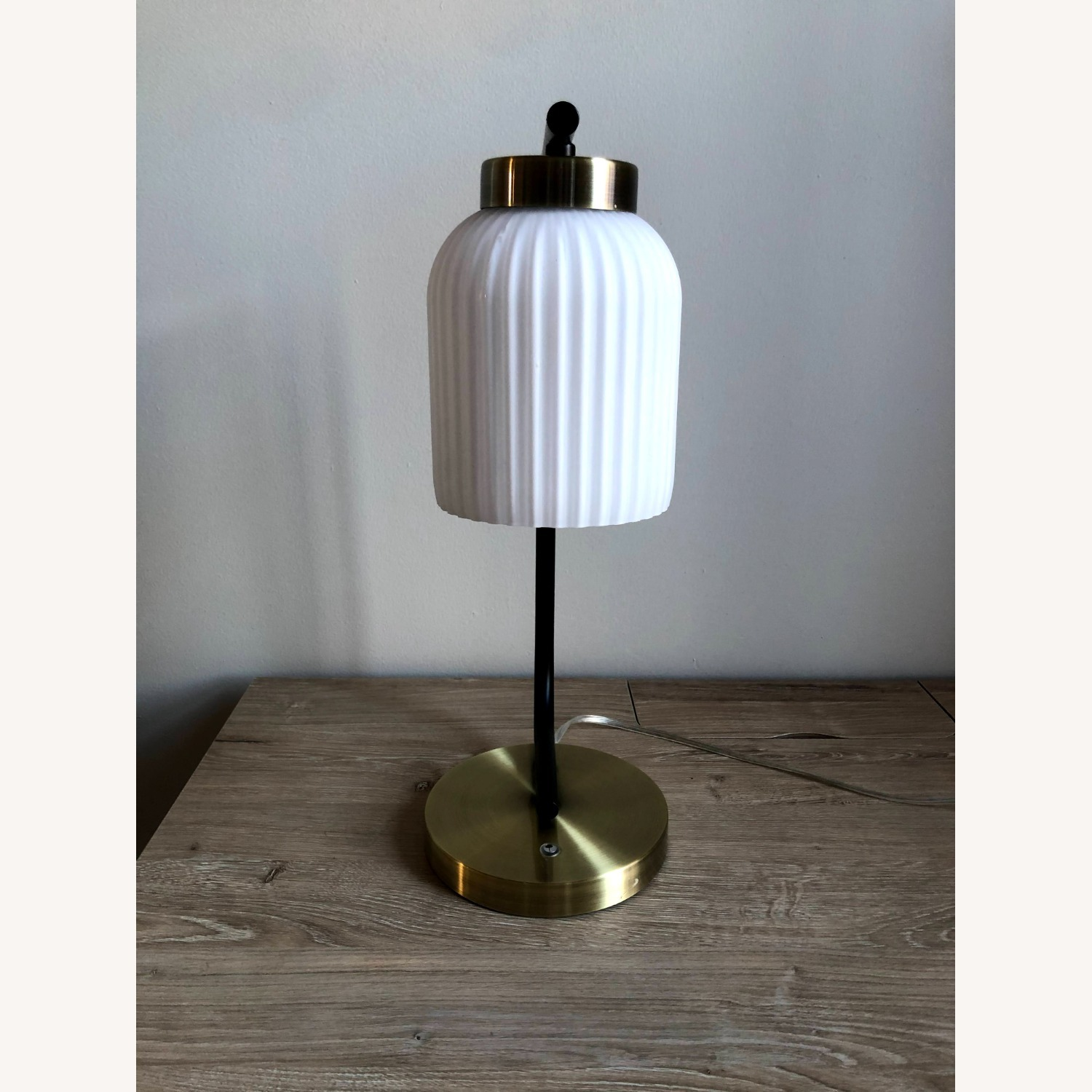 West Elm Suspended Glass Table Lamp - image-4