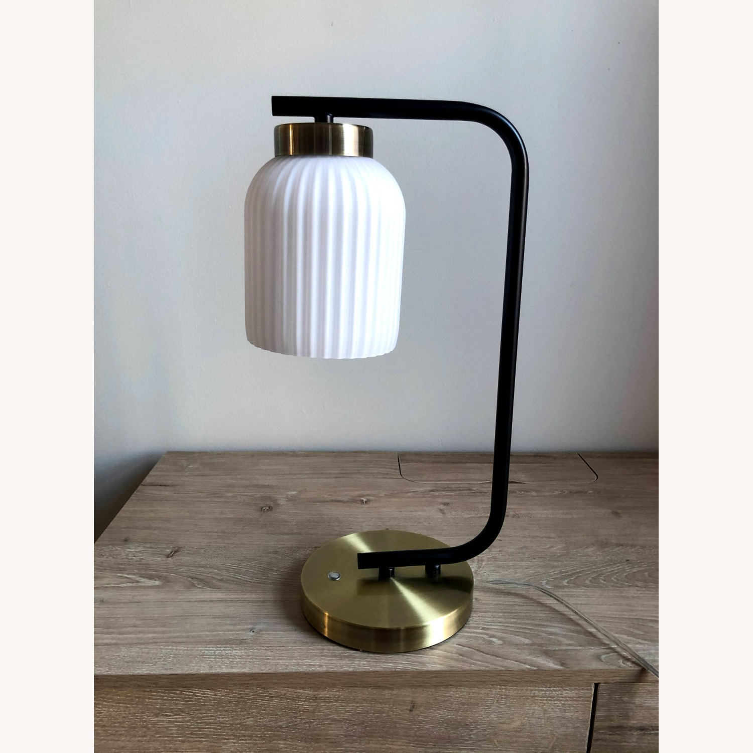 West Elm Suspended Glass Table Lamp - image-3