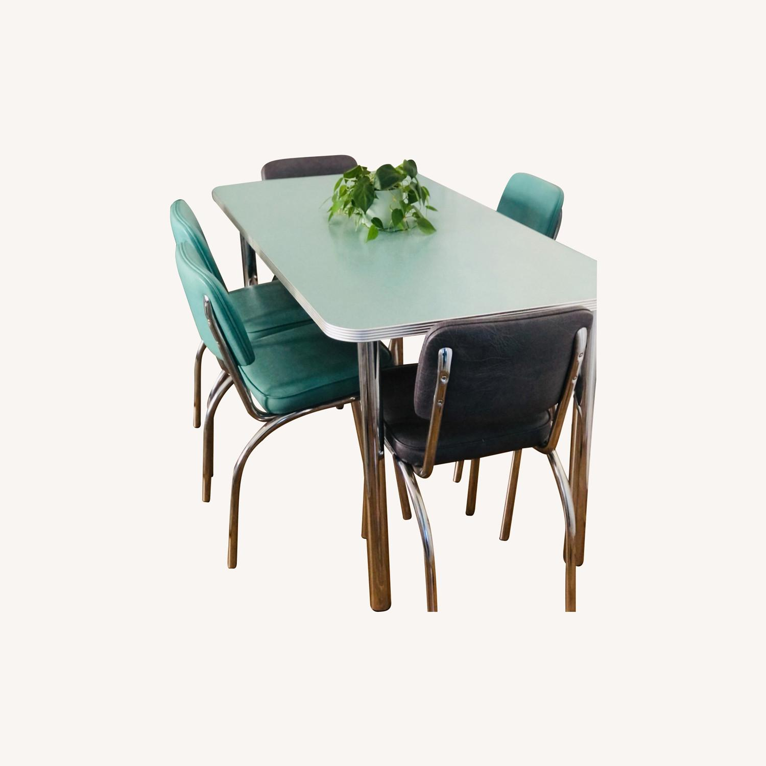 Formica and Chrome Dining Set - image-0