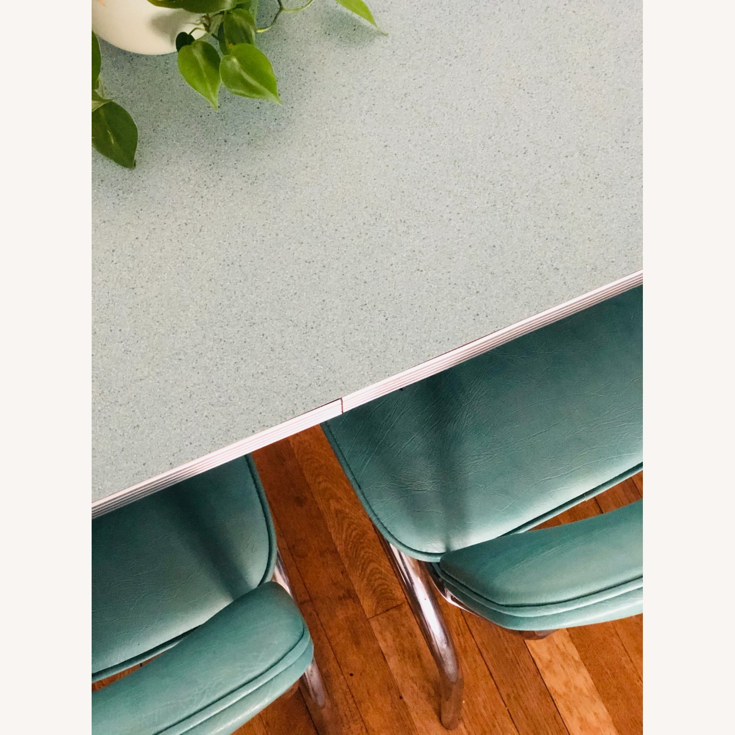 Formica and Chrome Dining Set - image-9