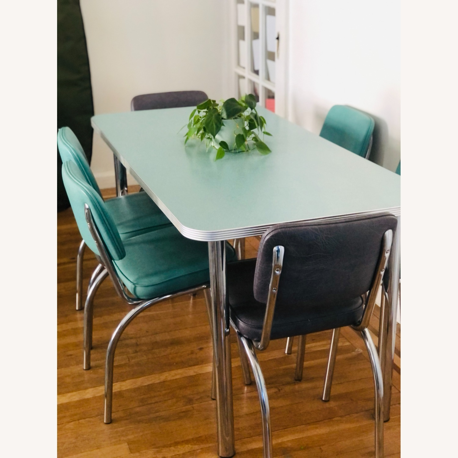 Formica and Chrome Dining Set - image-1