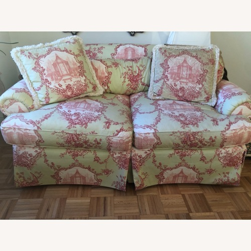 Used ABC Carpet and Home Toile loveseat for sale on AptDeco