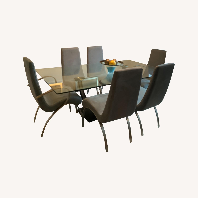 Elite Modern Glass Dining Set - image-0