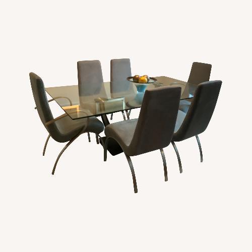Used Elite Modern Glass Dining Set for sale on AptDeco