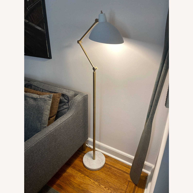 Target White and Brass Metal Adjustable Floor Lamp - image-1