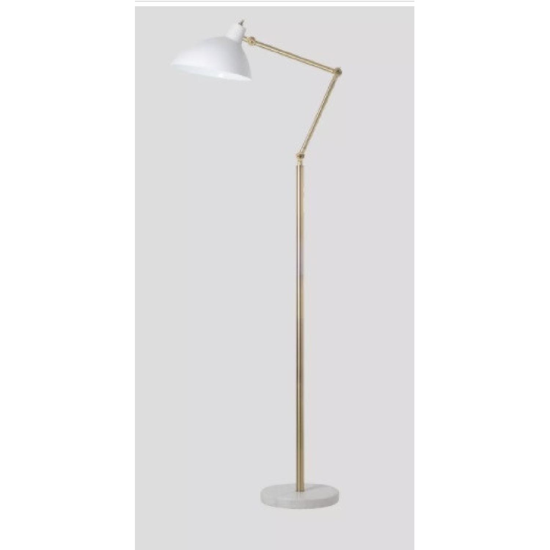 Target White and Brass Metal Adjustable Floor Lamp - image-4