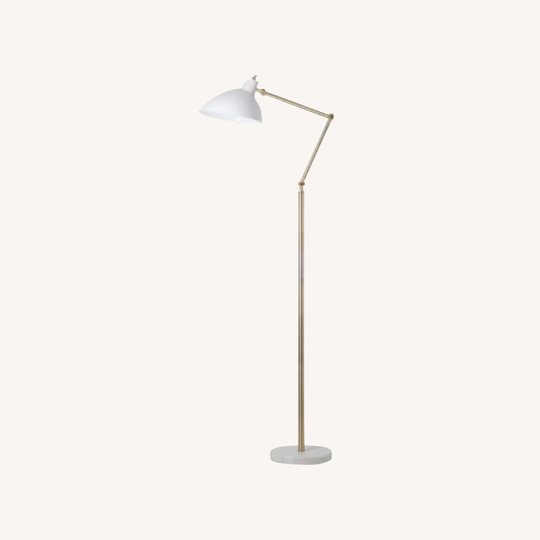 Target White and Brass Metal Adjustable Floor Lamp - image-0
