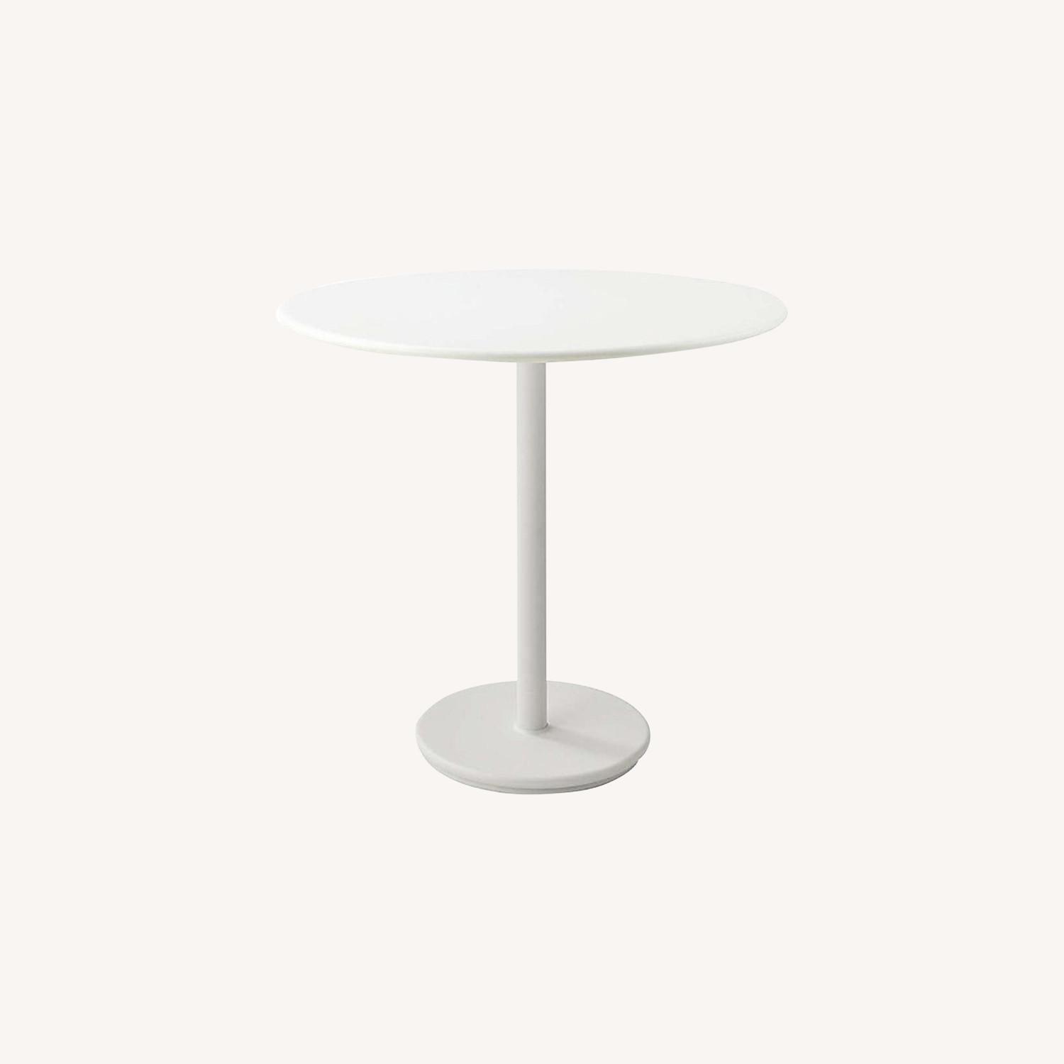 Lumens Round White Cafe Table - image-0