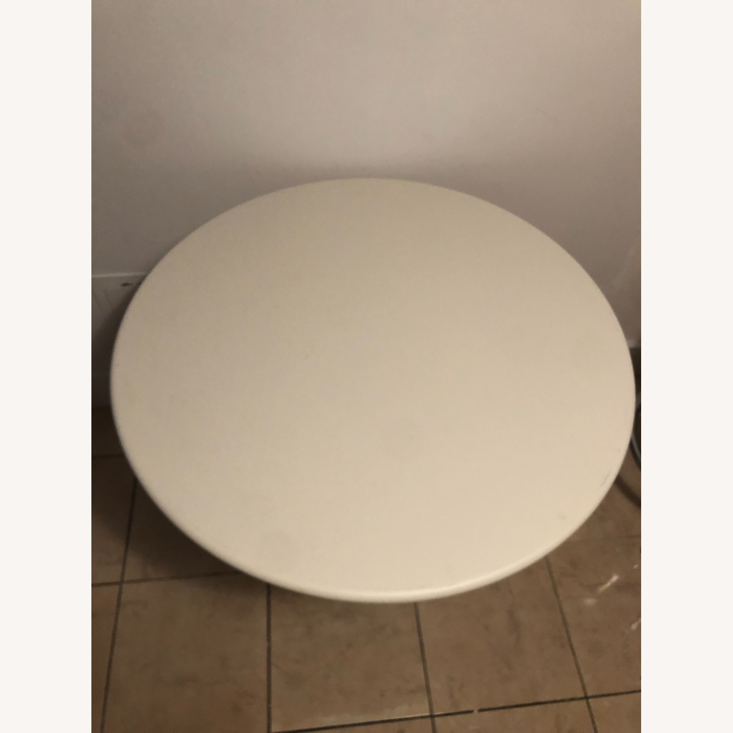 Lumens Round White Cafe Table - image-2