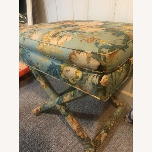 Used Vintage Upholstered X Bench/Ottoman for sale on AptDeco