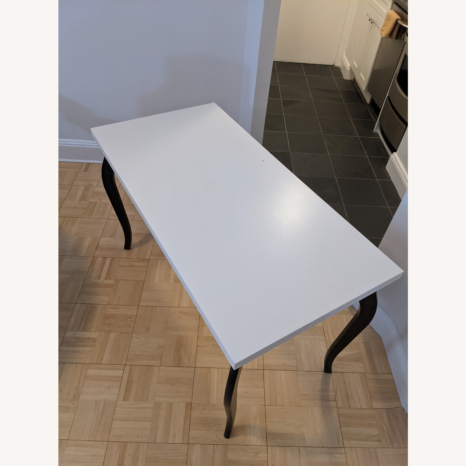 IKEA Linnmon Table Top with Lalle Legs - image-1