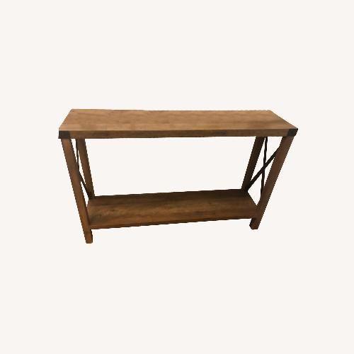 Used Pier 1 A Frame Rustic Oak Console Table for sale on AptDeco