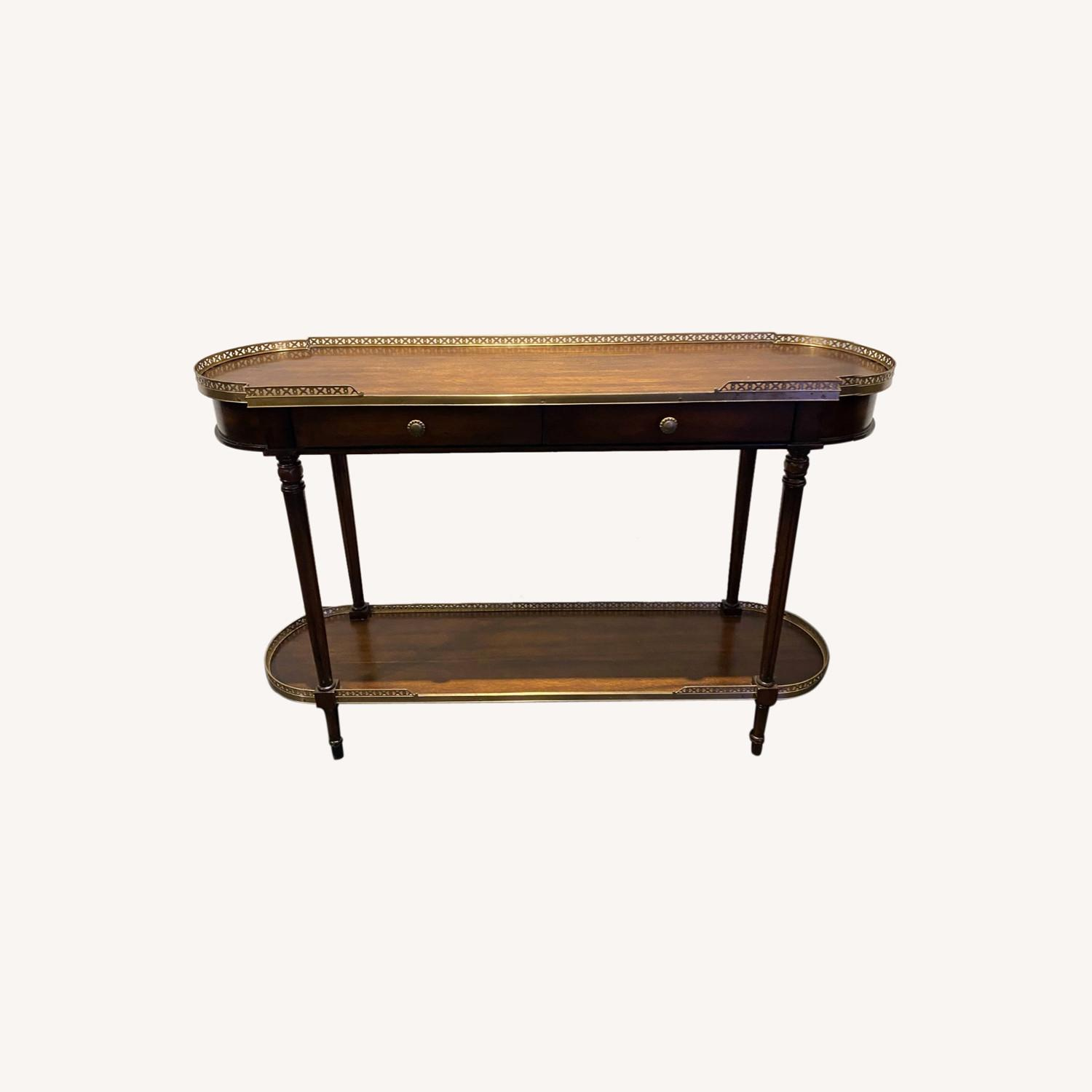 Long Side Table Rosewood and Brass - image-0