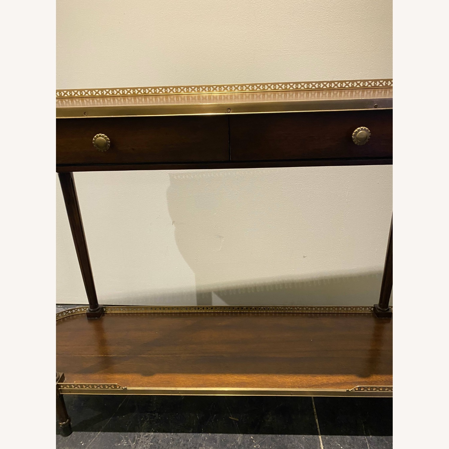 Long Side Table Rosewood and Brass - image-1