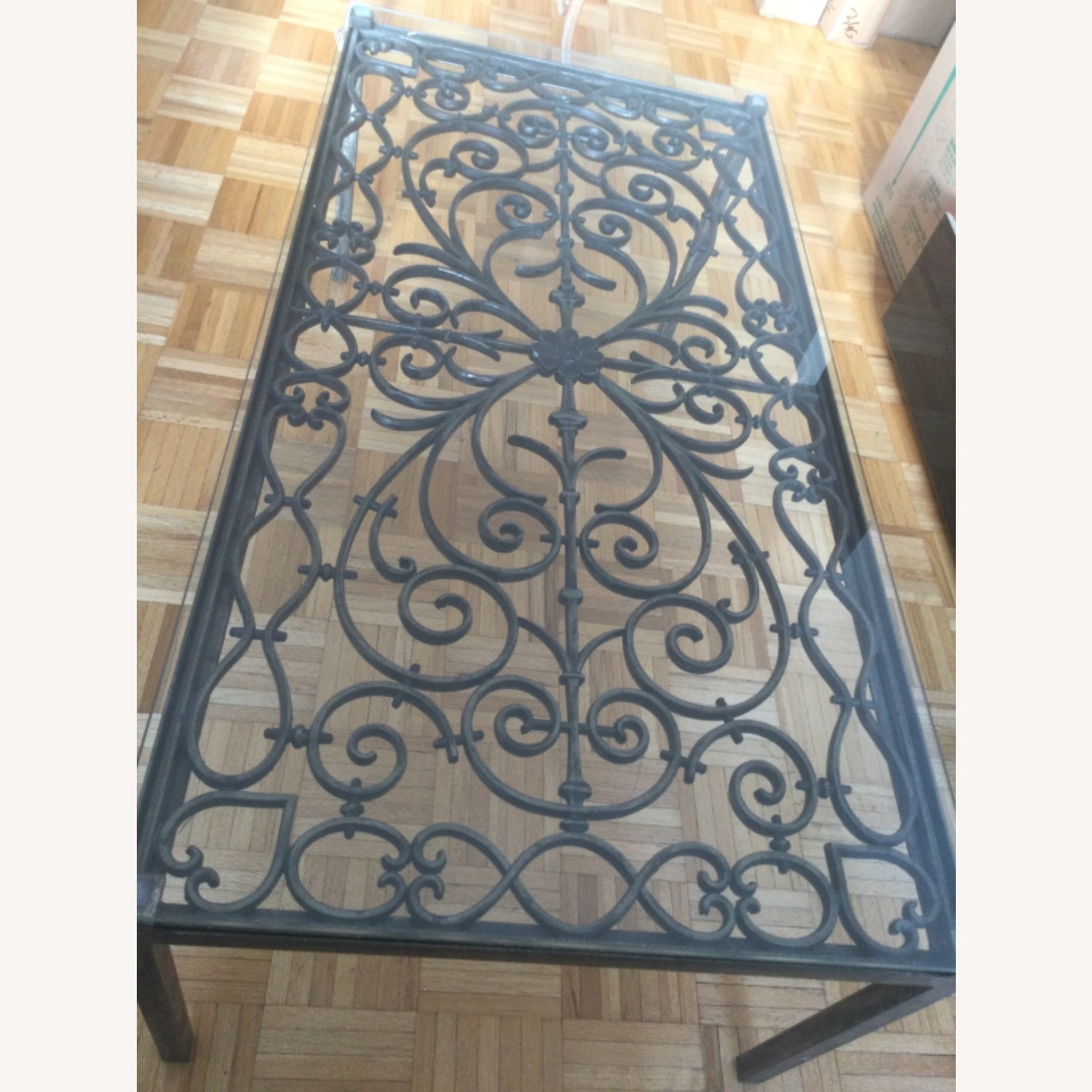 ABC Carpet& Home Scroll Wrought Iron Coffee Table - image-2