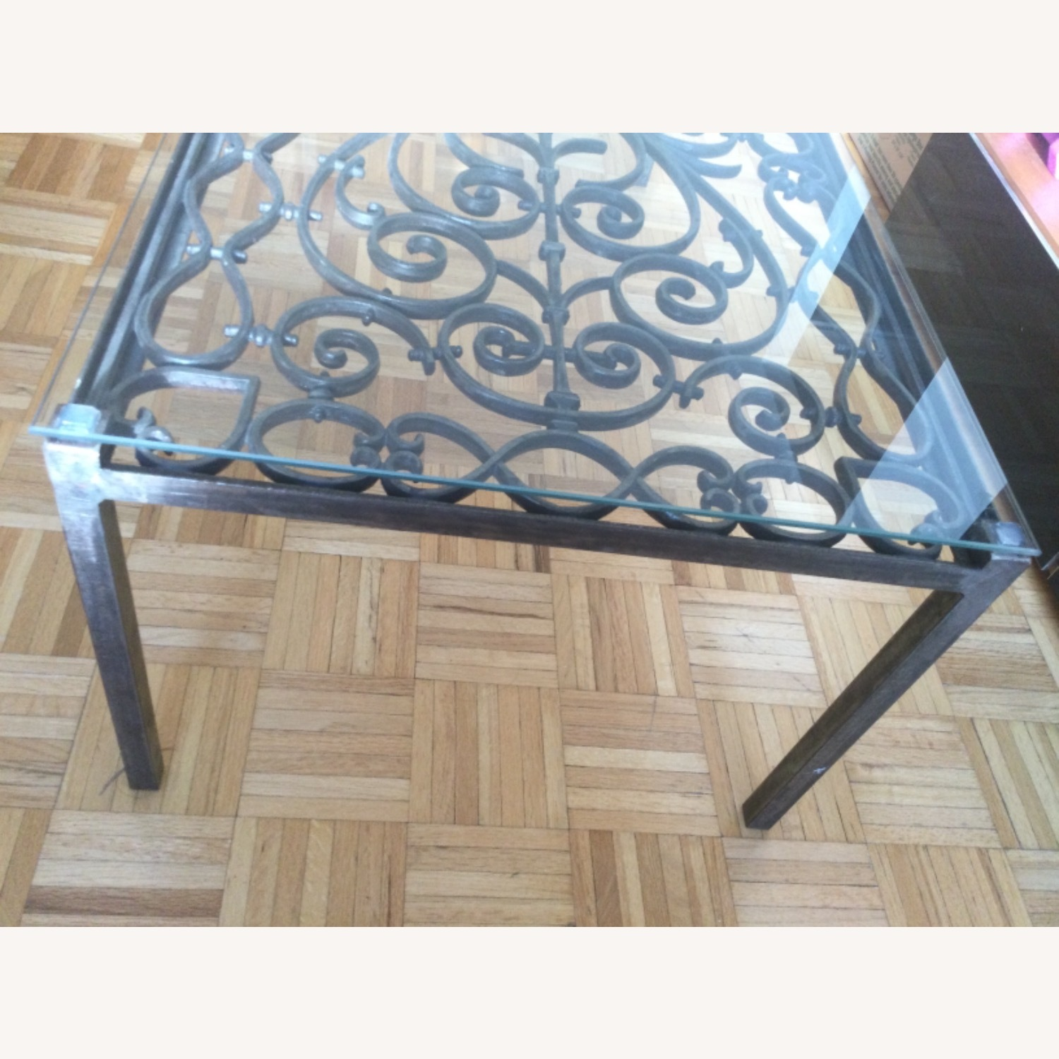 ABC Carpet& Home Scroll Wrought Iron Coffee Table - image-3