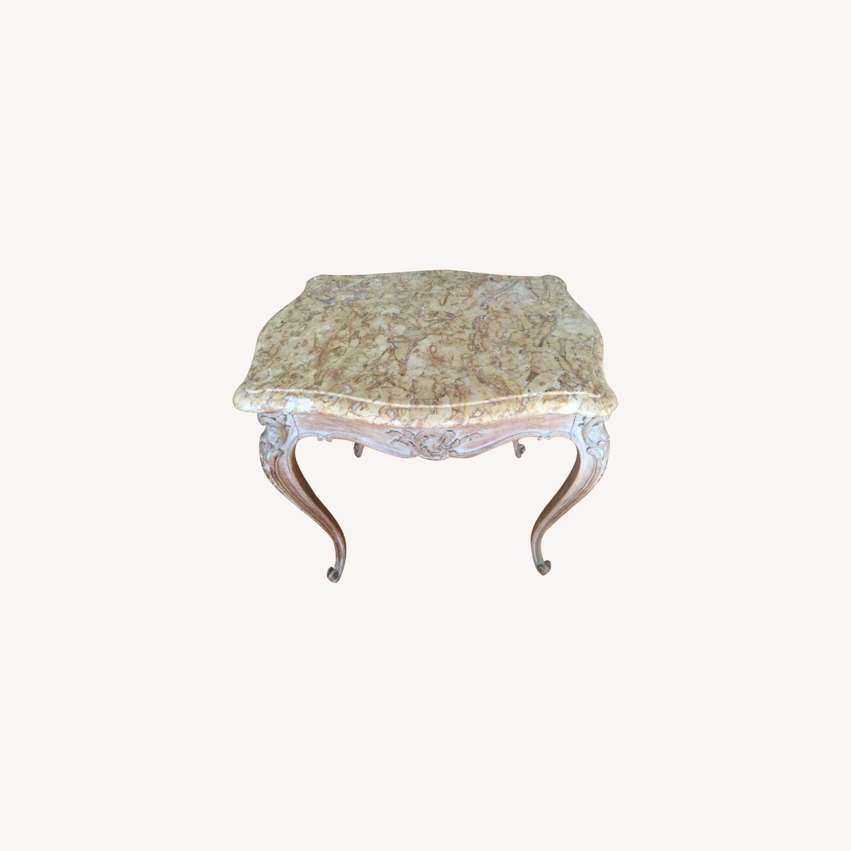 ABC Carpet Vintage Hand Craved Side Table - image-0
