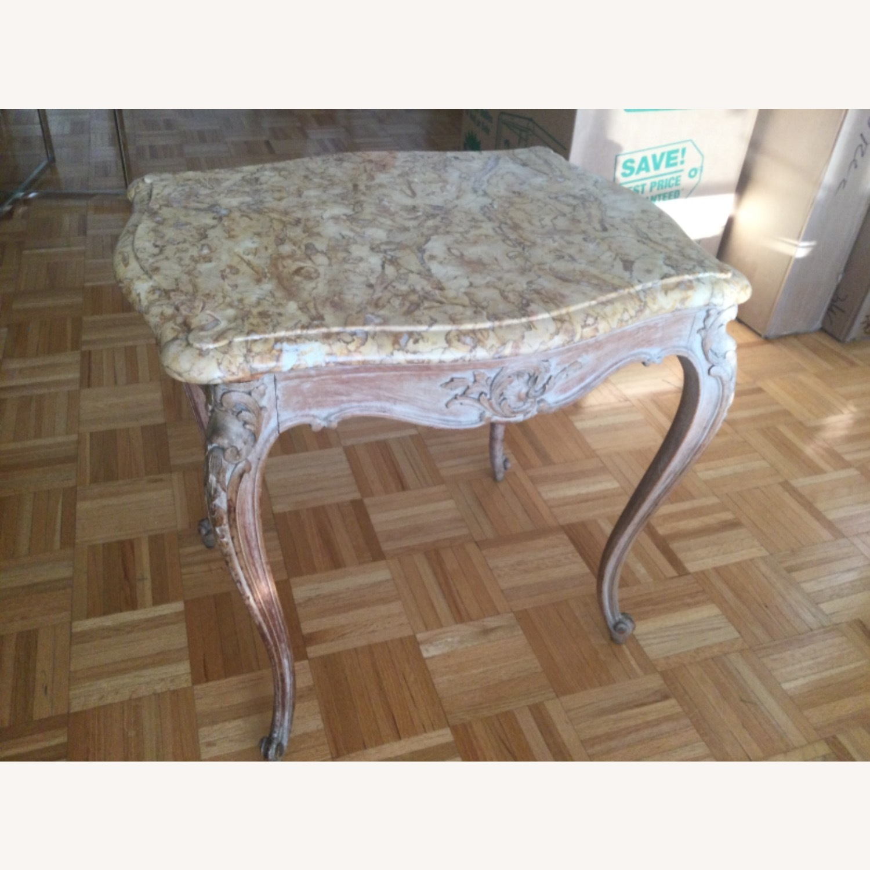 ABC Carpet Vintage Hand Craved Side Table - image-2