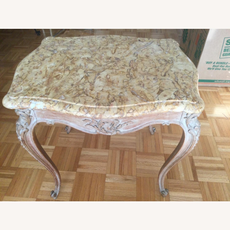 ABC Carpet Vintage Hand Craved Side Table - image-1