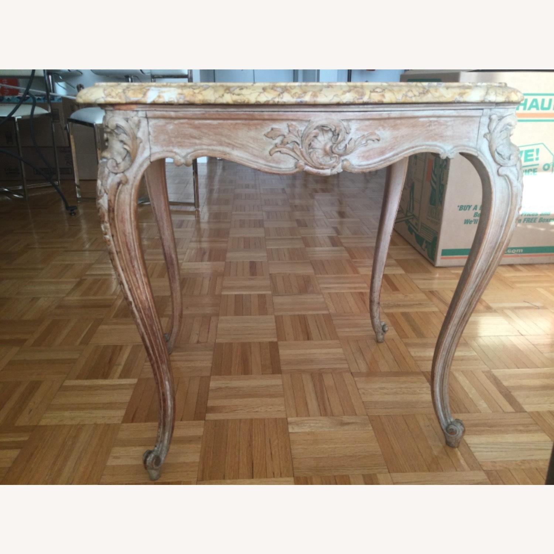 ABC Carpet Vintage Hand Craved Side Table - image-5