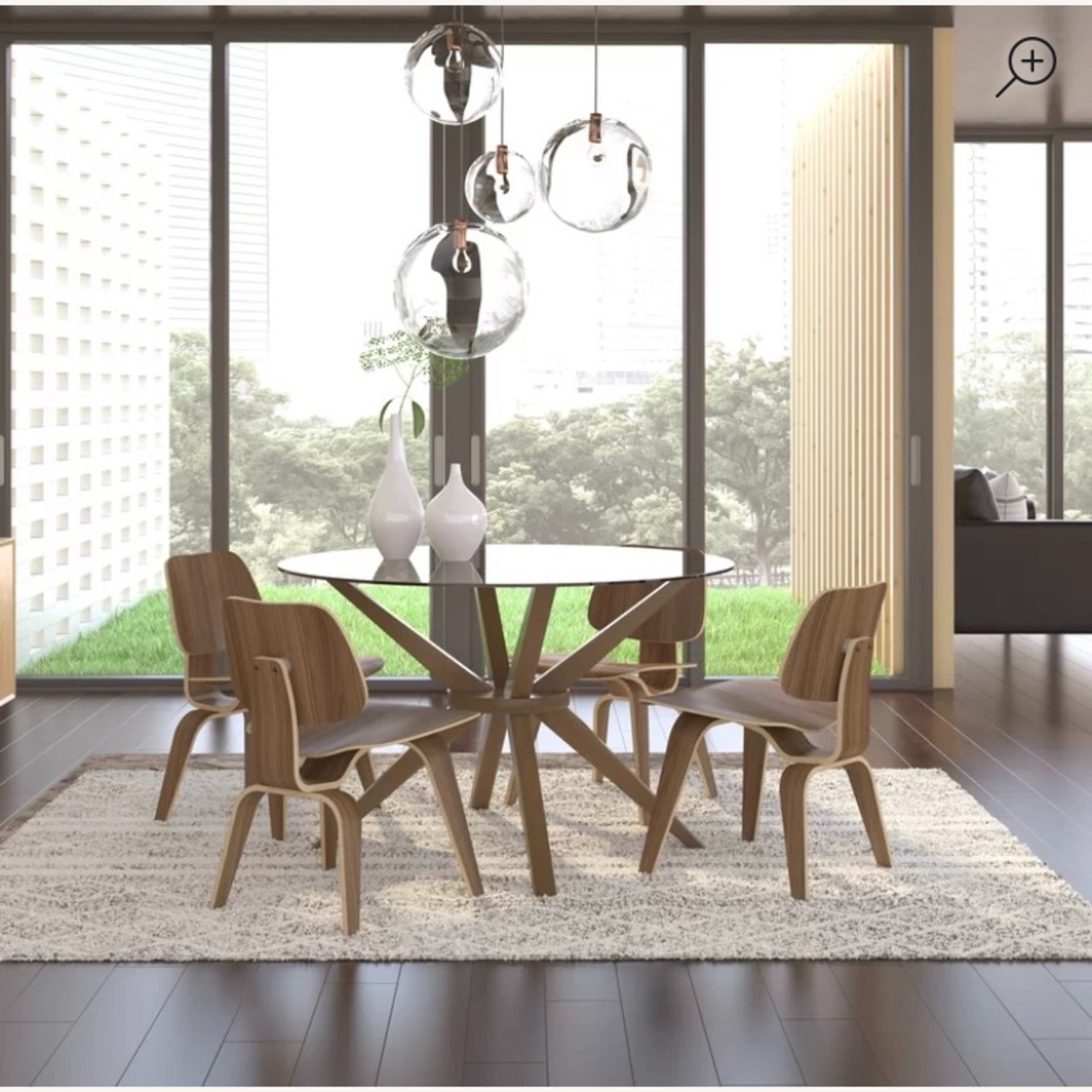 AllModern Rox Solid Wood Dining Table - image-3