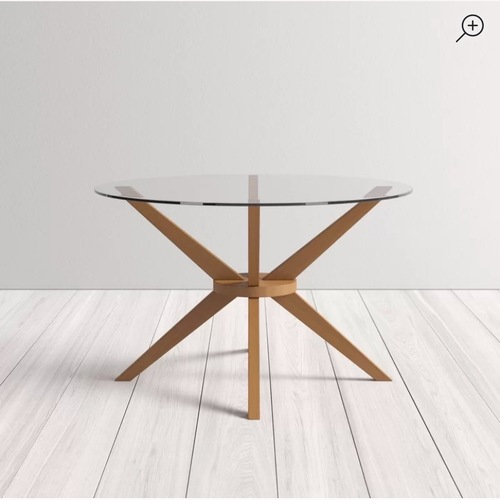Used AllModern Rox Solid Wood Dining Table for sale on AptDeco