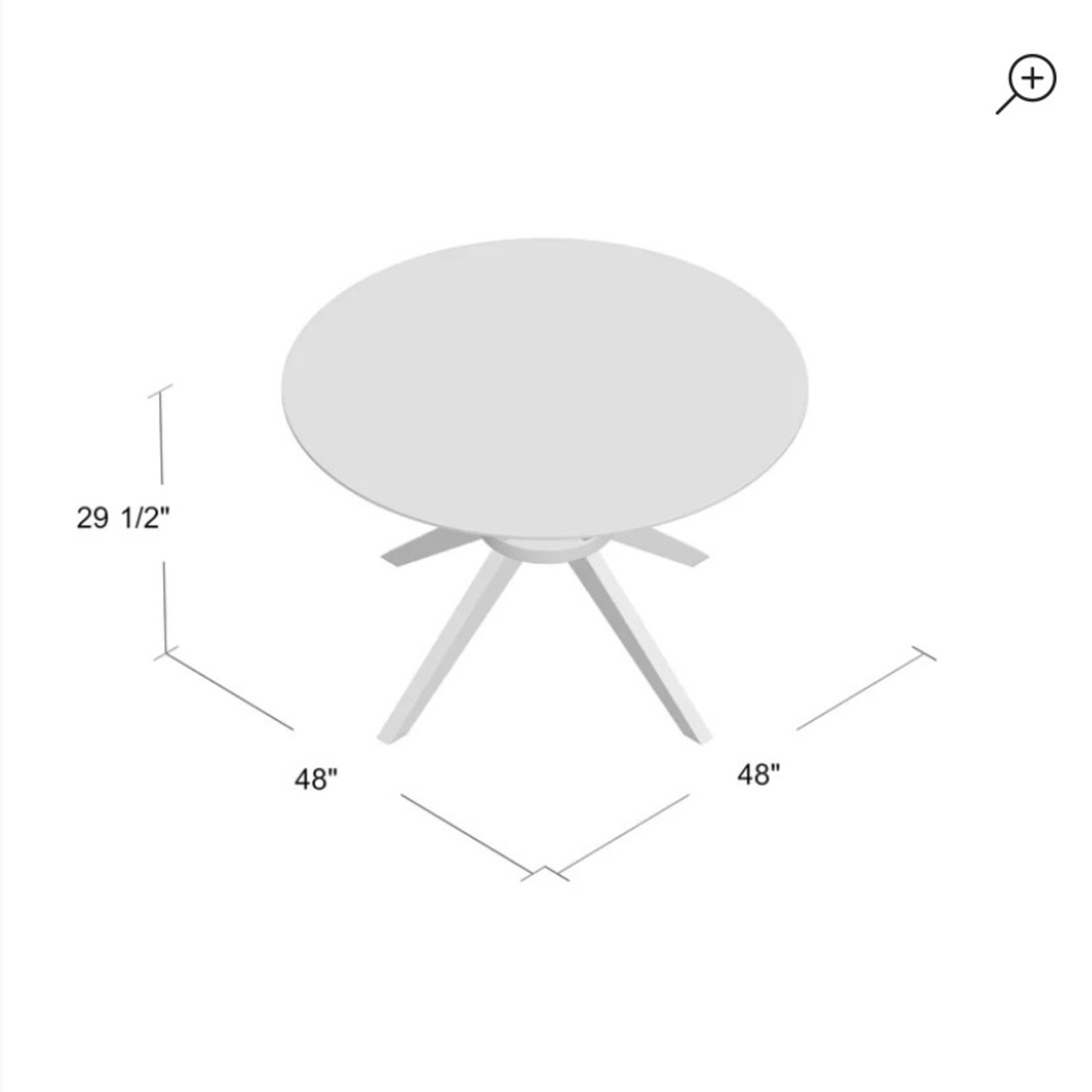 AllModern Rox Solid Wood Dining Table - image-4